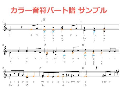 カラー音符サンプル
